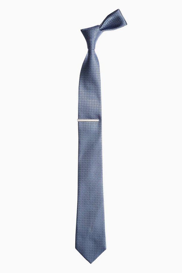 Next Krawatte und Krawattennadel 2 teilig in Blue