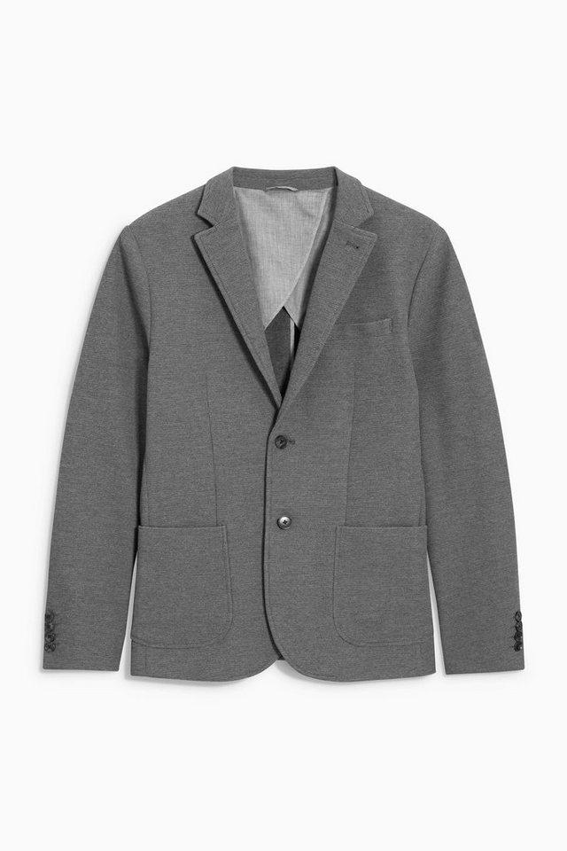 Next Strukturierte Jacke in Grey