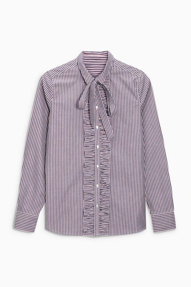 Next Bluse mit Rüschen in Pink Stripe