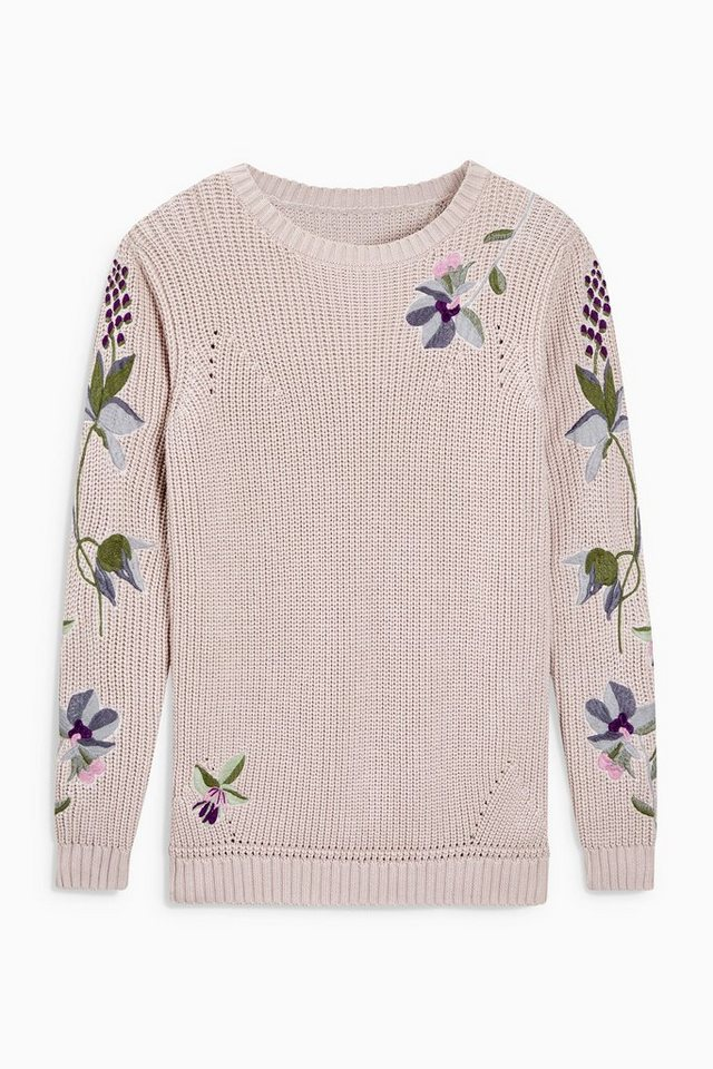 Next Pullover mit Blumen in Blush