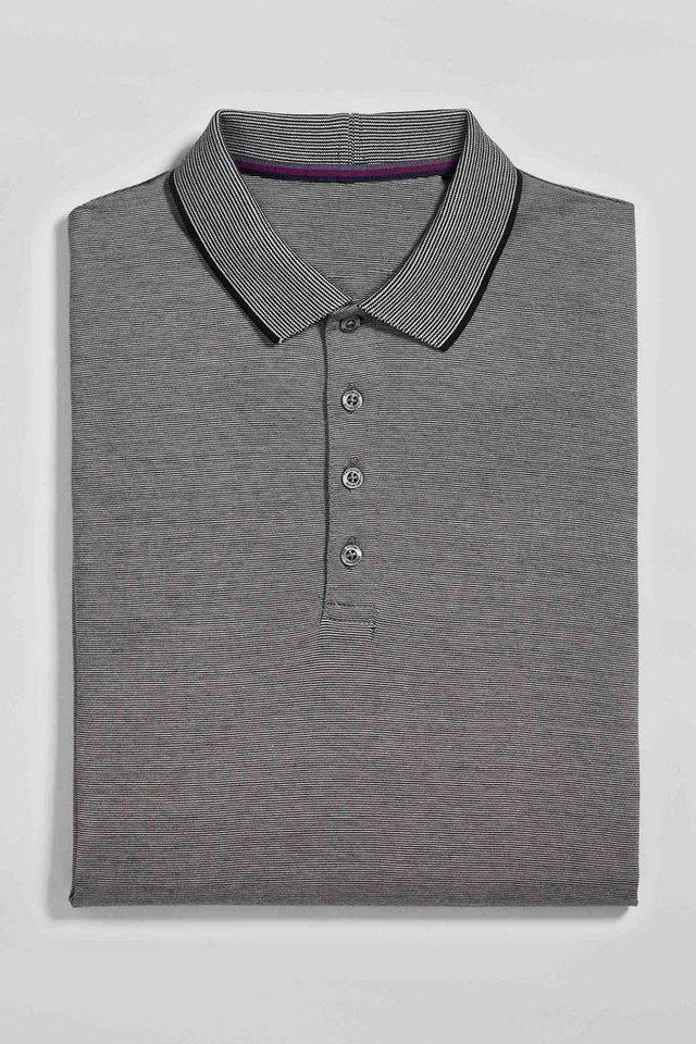 Next Langärmeliges Premium-Poloshirt in Grey