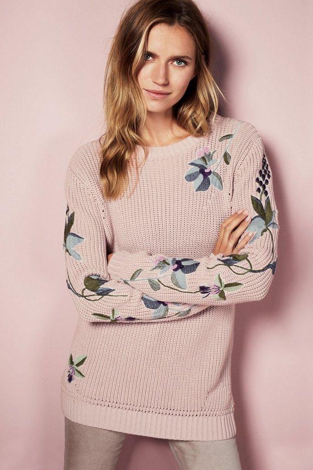 Next Pullover mit Blumen in Blush