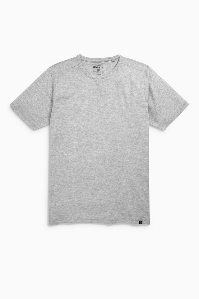 Next T-Shirt aus weichem Noppengarn in Grey Marl