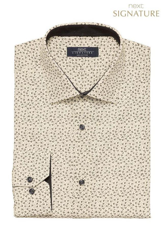 Next Regular-Fit Hemd mit Blumenprint in White