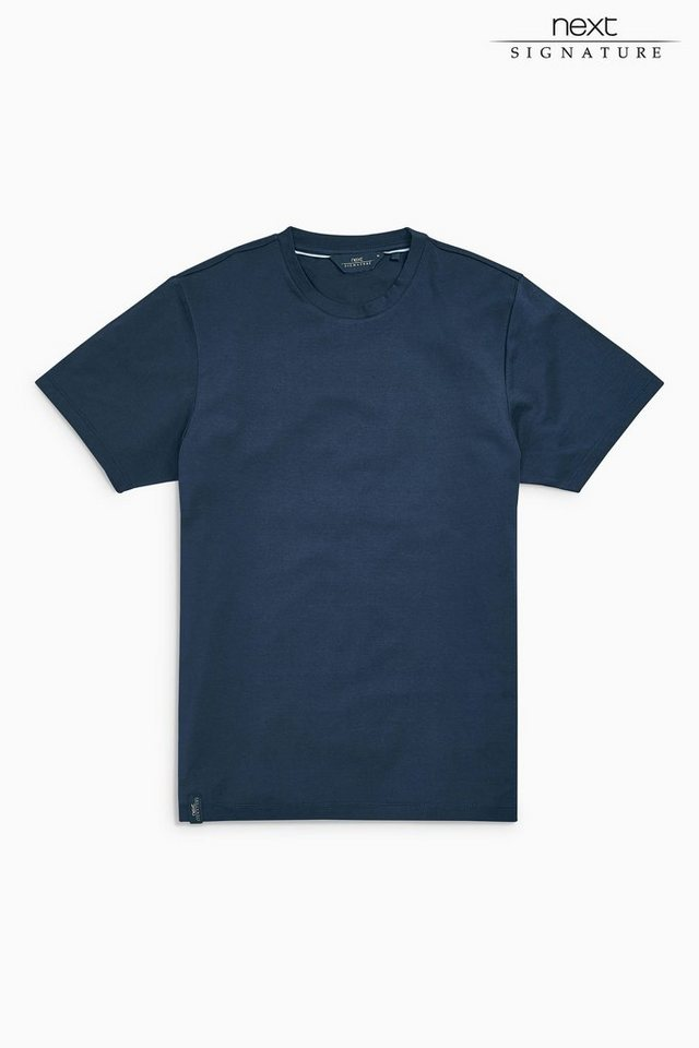 Next Merzerisiertes T-Shirt in Navy