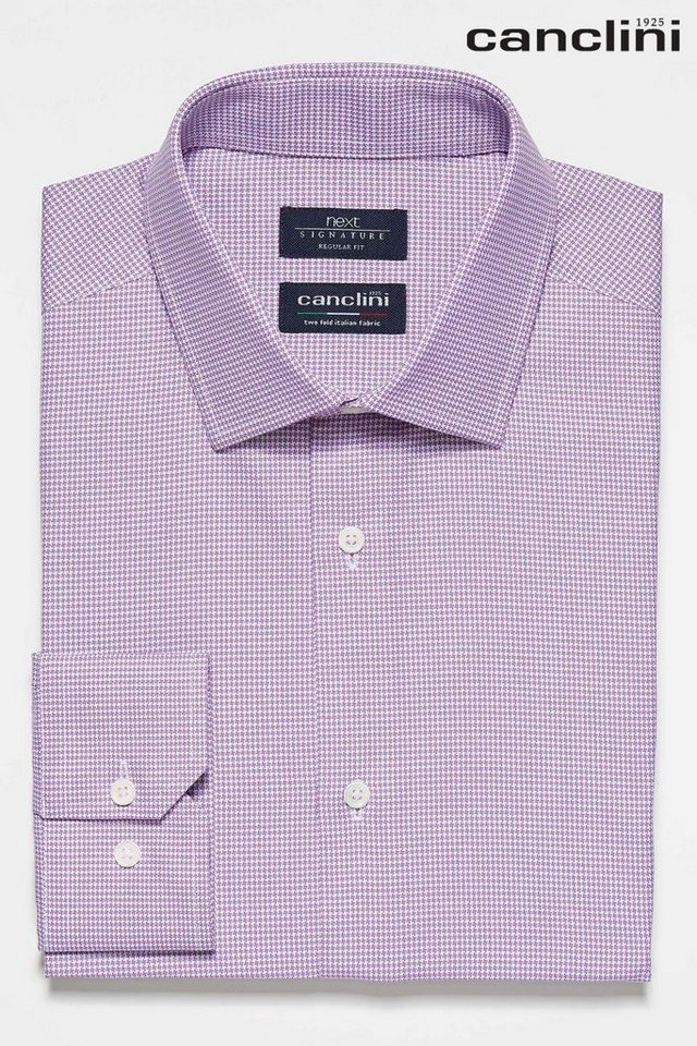 Next Canclini-Hemd mit Hahnentrittmuster in Purple