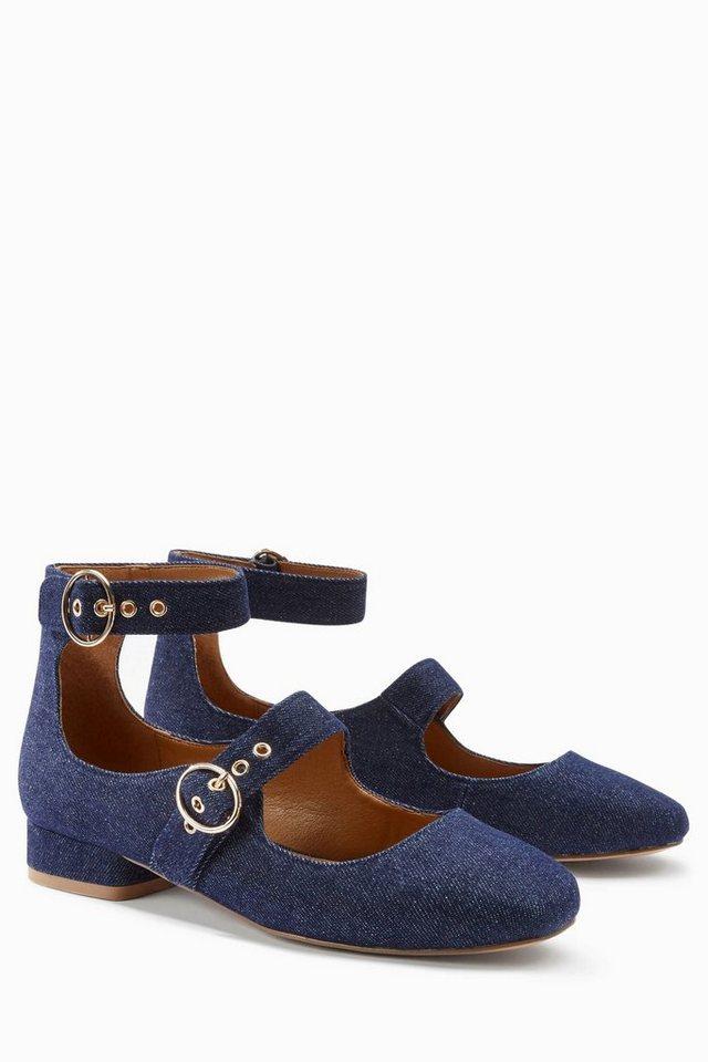 Next Denim-Schuh mit Schnallen in Blue