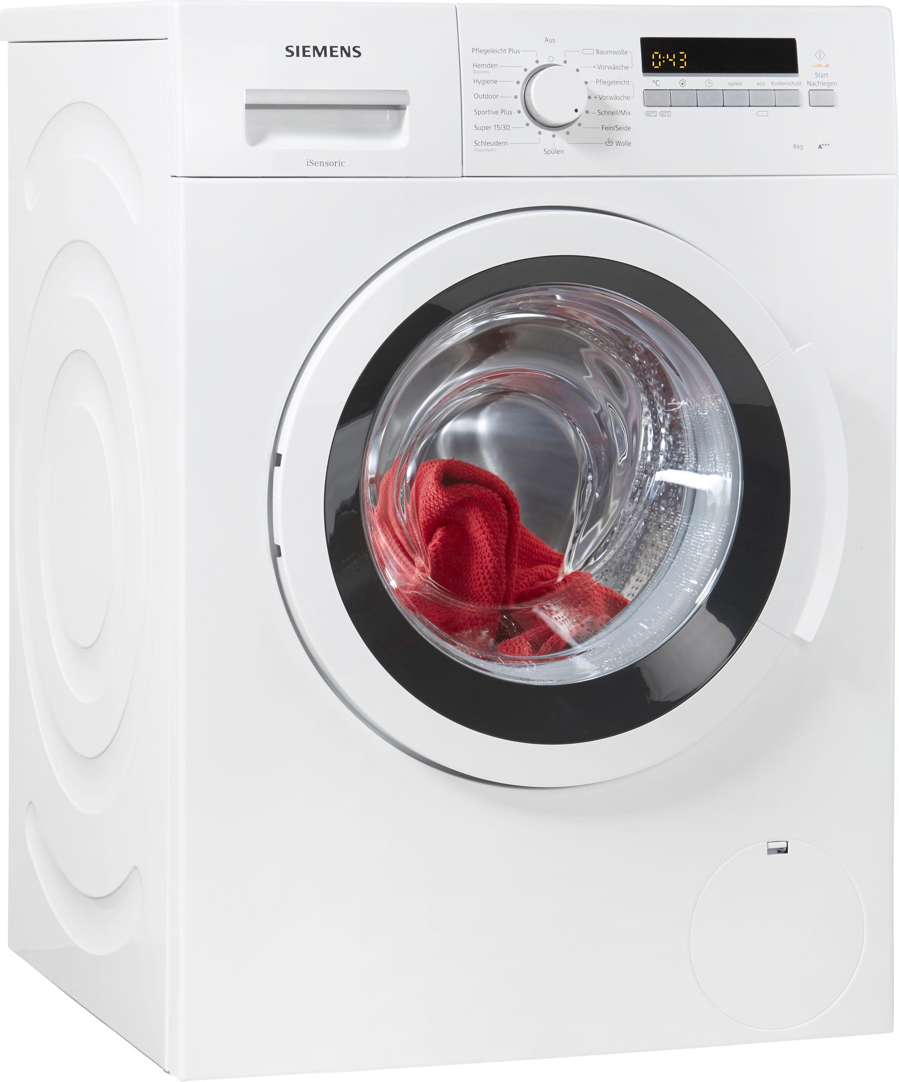 SIEMENS Waschmaschine WM14K2ECO, A+++, 8 kg, 1400 U/Min
