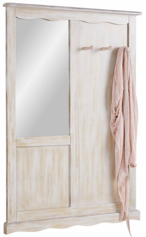 Home affaire Wandpaneel »Pienza« mit Spiegel, Breite: 85 cm in weiß-natur