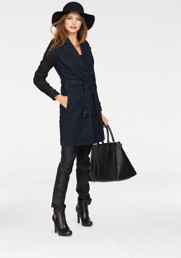 Melrose Trenchcoat, Lace Sleeves With