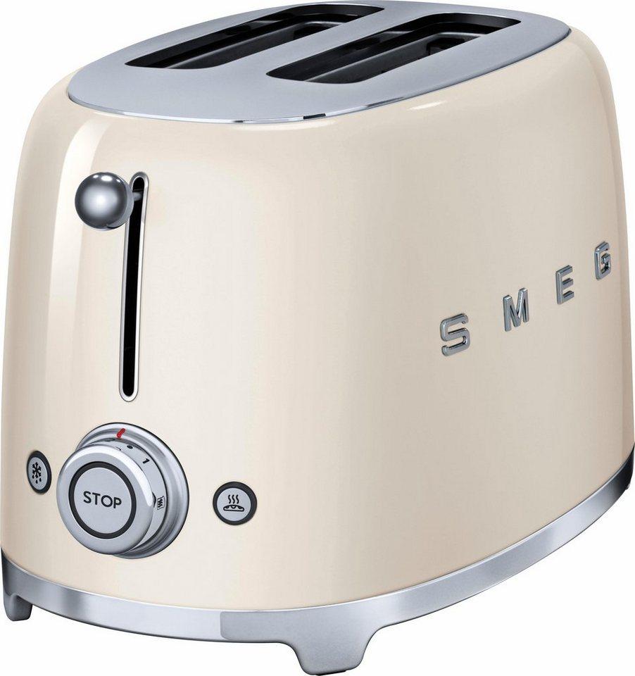 Smeg 2-Scheiben-Toaster TSF01CREU, 950 Watt, creme in creme
