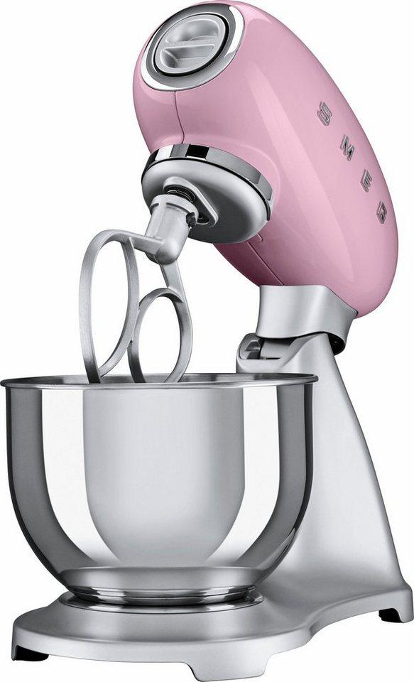 smeg k chenmaschine smf01pkeu cadillac pink 4 8 liter 800 watt aluminium druckguss lackiert. Black Bedroom Furniture Sets. Home Design Ideas