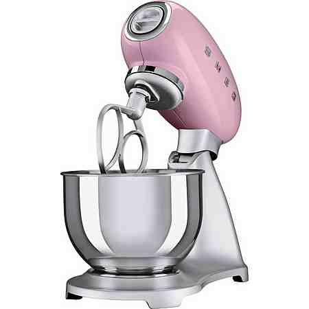 smeg Küchenmaschine SMF01PKEU, Cadillac Pink, 4,8 Liter, 800 Watt, Aluminium Druckguss lackiert