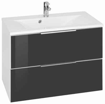 waschtisch tessin kesper mit soft close funktion - Bad Waschbecken Mit Unterschrank