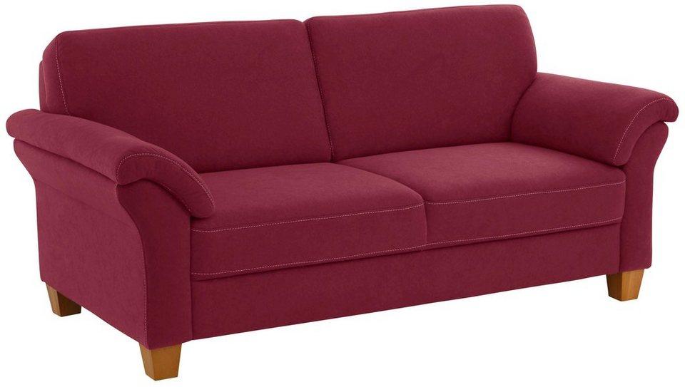 Home affaire 3-Sitzer »Borkum« mit Federkern in braun