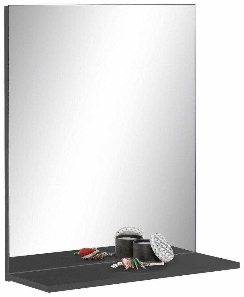 trendteam welltime Spiegel Smart mit Ablage grau | 04251219792972