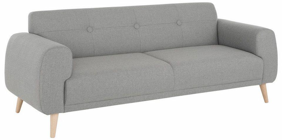 Home affaire 3-Sitzer »Skagen«, mit edler Steppung im Rücken in grau
