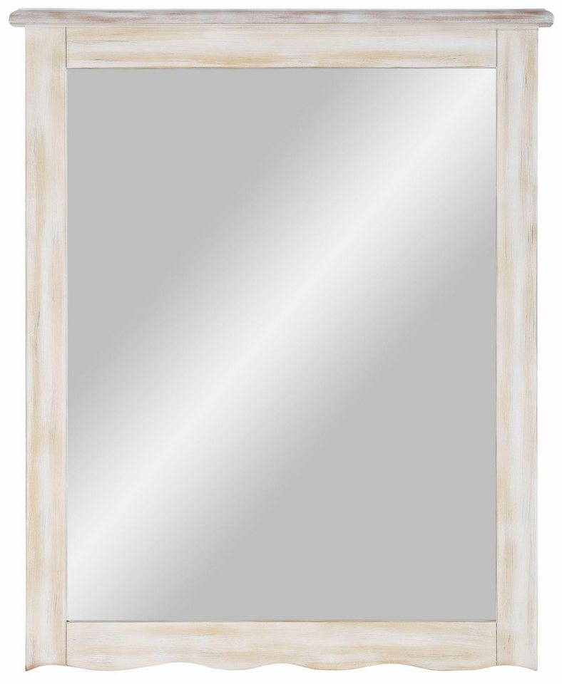 Home affaire Wandspiegel »Pienza« mit dekorativem Rahmen, Breite: 65 cm in weiß-natur