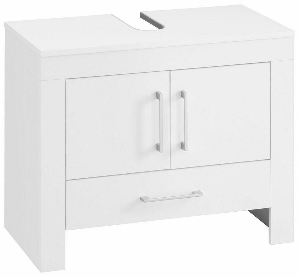Waschbeckenunterschrank »Zingst« in weiß/weiß