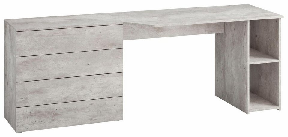 Borchardt Möbel Schreibtisch Wallis Mit Push To Open Funktion