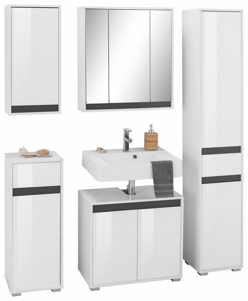 trendteam badm bel set sol 5 tlg mit wechselblende online kaufen otto. Black Bedroom Furniture Sets. Home Design Ideas