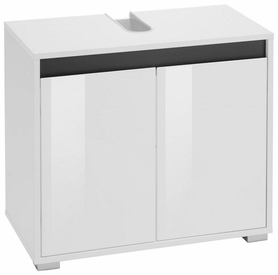 Waschbeckenunterschrank »Sol« in weiß/weiß Hochglanz