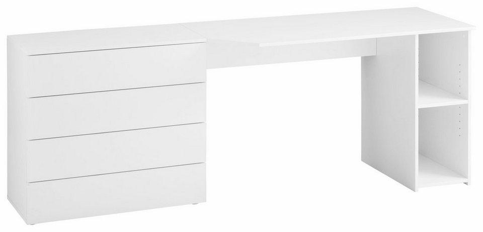 Schreibtisch »Wallis« in weiß
