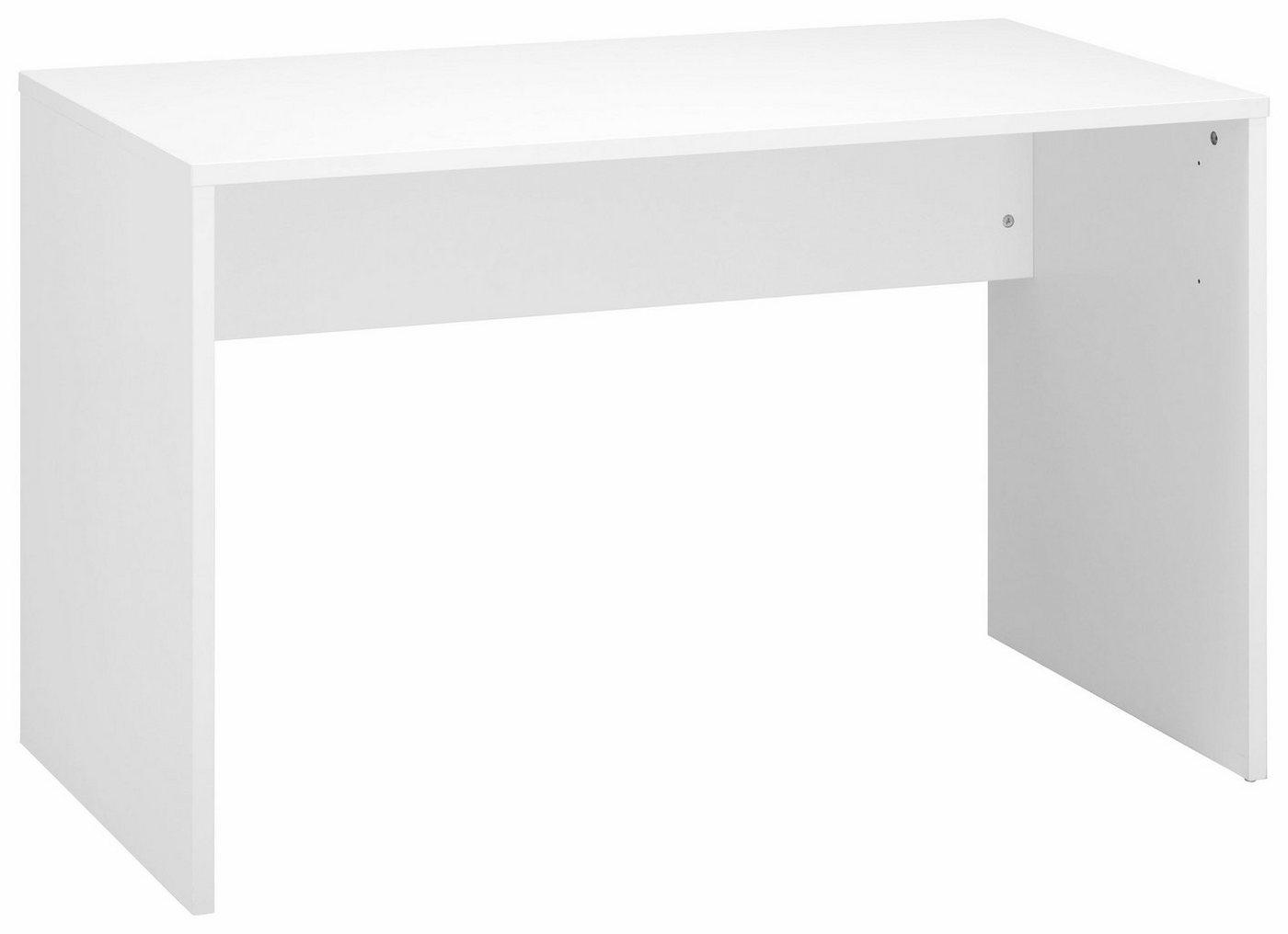 Schreibtisch weiss cs schmal preisvergleiche for Schreibtisch lang und schmal