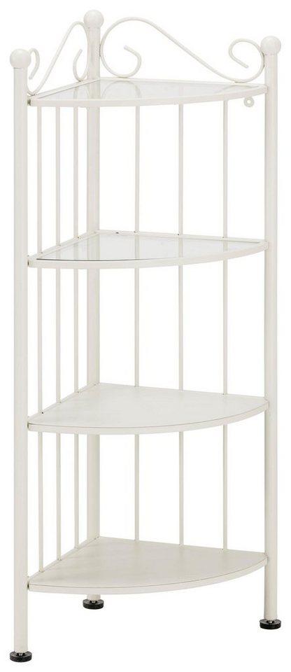 princess eckregal klein mit 4 regalen 2 glas und 2 metall online kaufen otto. Black Bedroom Furniture Sets. Home Design Ideas