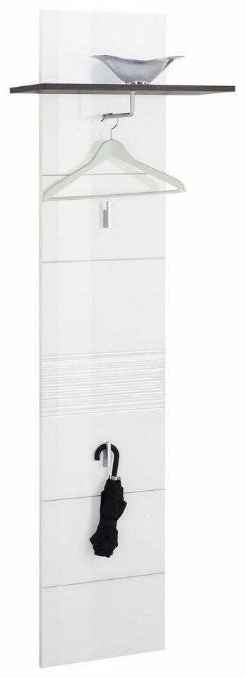 Garderobenpaneel »Smart« in grau/weiß Hochglanz