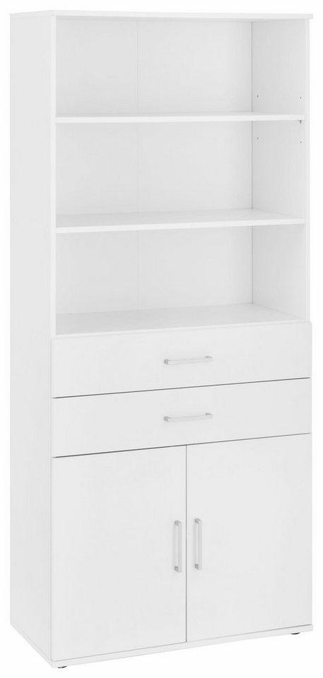 Mehrzweckschrank »Dom«, Breite 80 cm in weiß/weiß