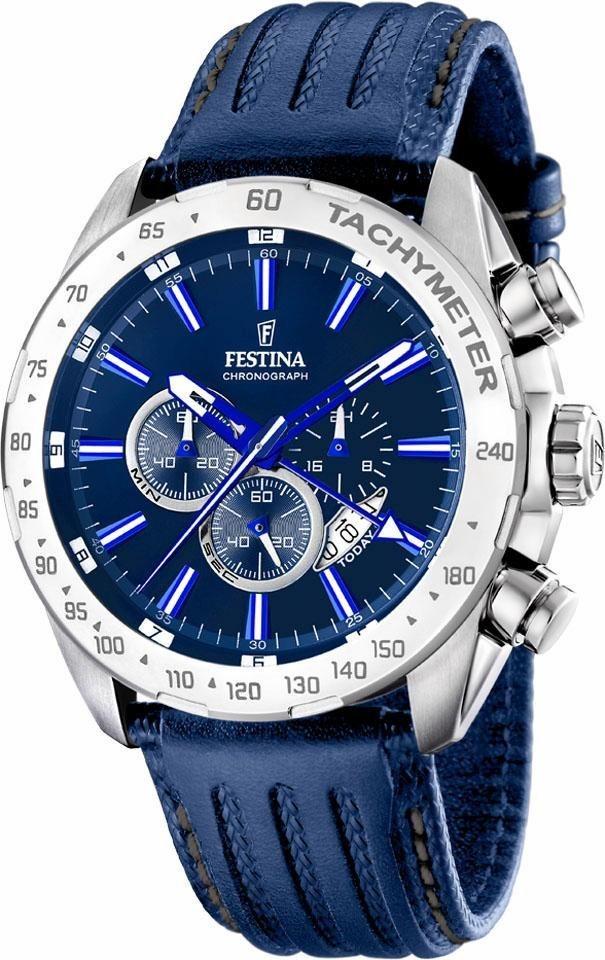 Festina Chronograph »F16489/B« dezentrale Sekunde in blau