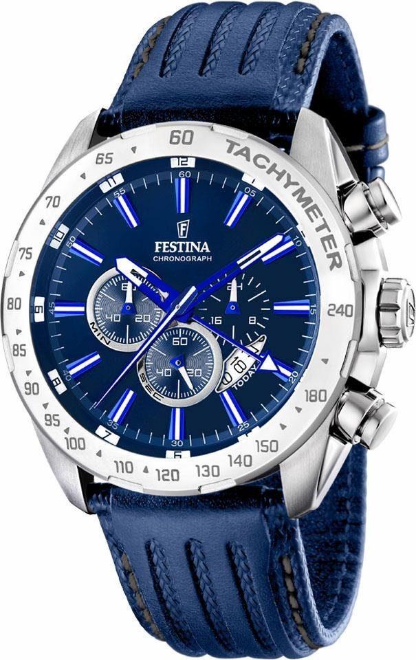 Festina Chronograph »F16489/B«, dezentrale Sekunde