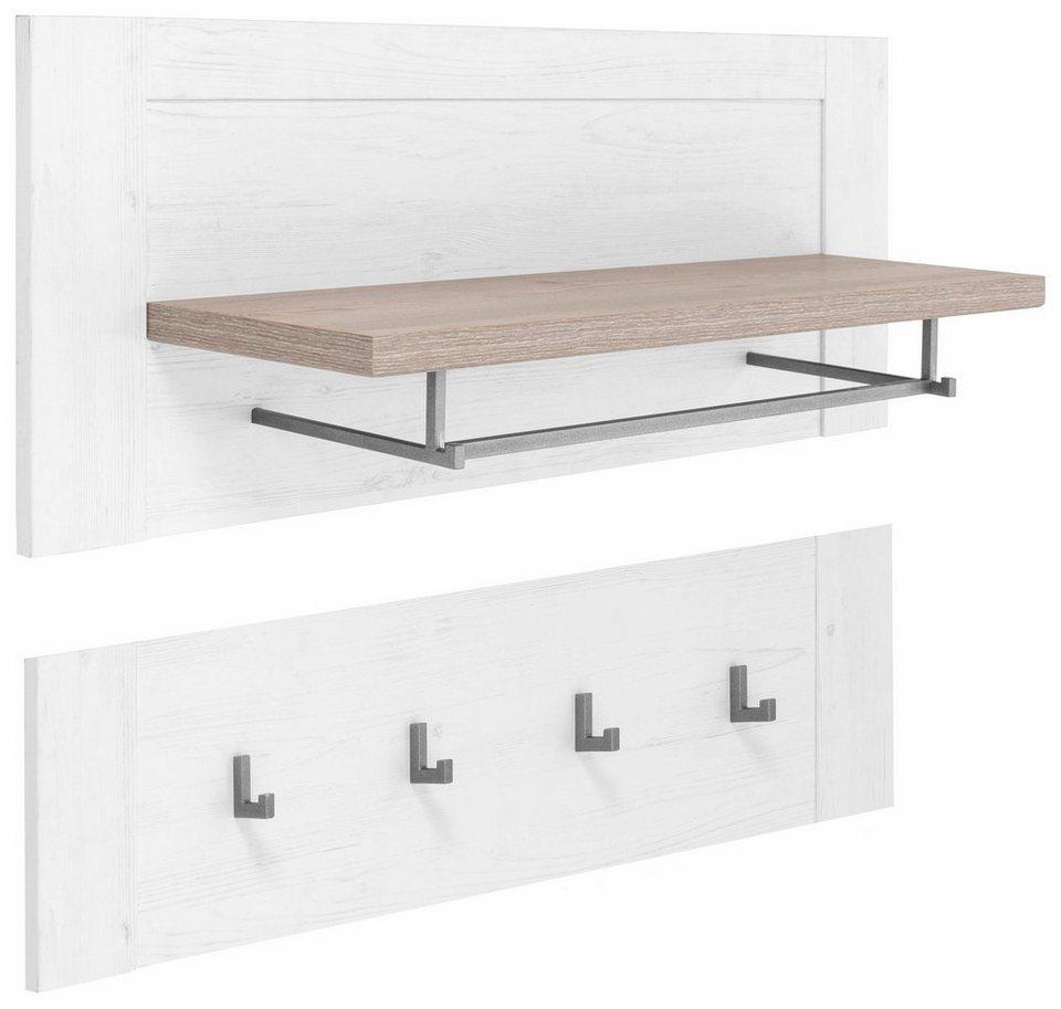 Wandpaneel »Lotte« in weiß Struktur/piniefb. grau