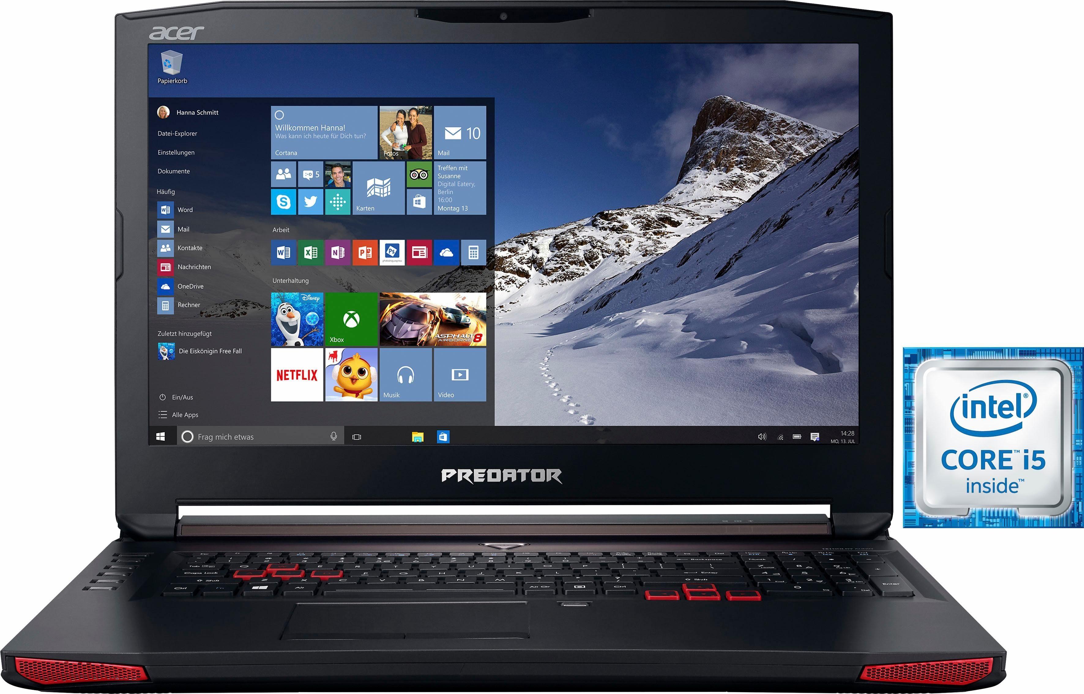 Acer Predator G5-793-53FA Notebook, Intel® Core™ i5, 43,9 cm (17,3 Zoll), 1256 GB Speicher