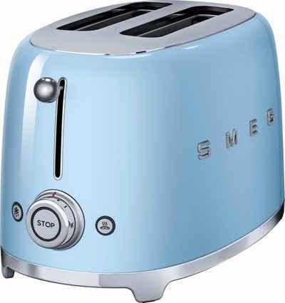 Smeg Toaster TSF01PBEU, 2 kurze Schlitze, für 2 Scheiben, 950 W