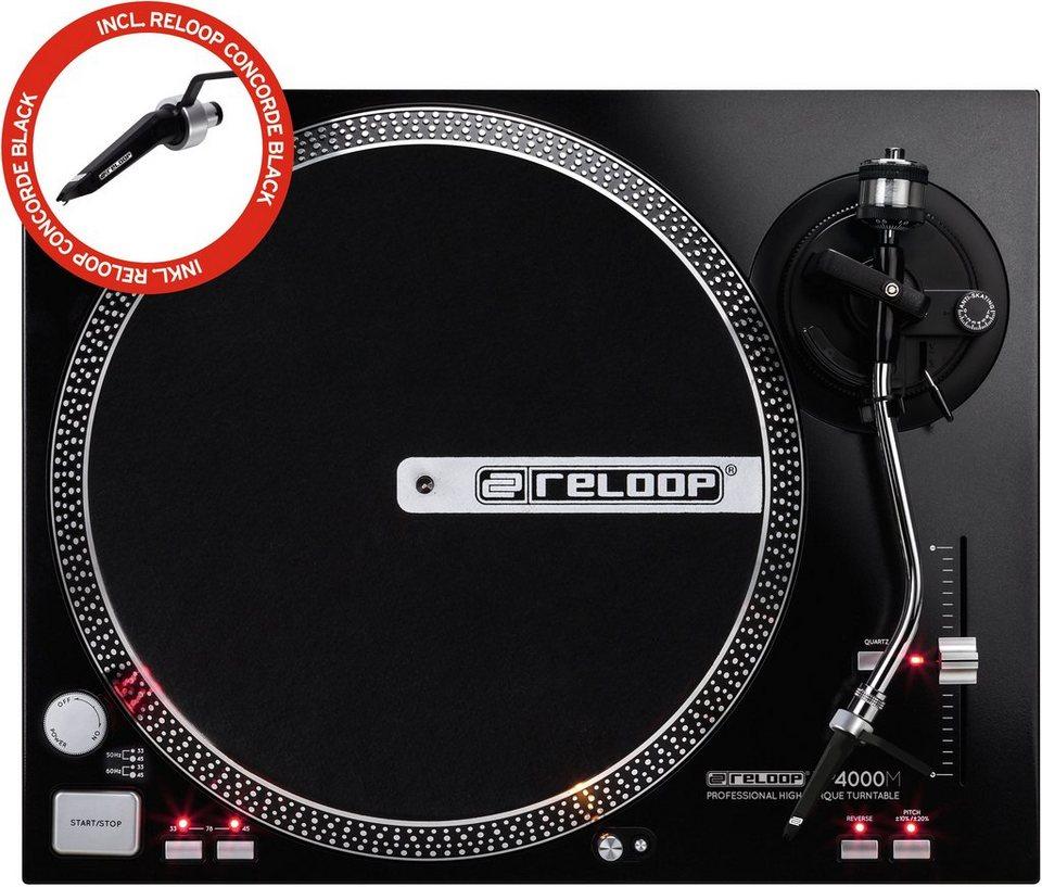 Reloop DJ Plattenspieler, »RP 4000 M inkl. Concorde black«