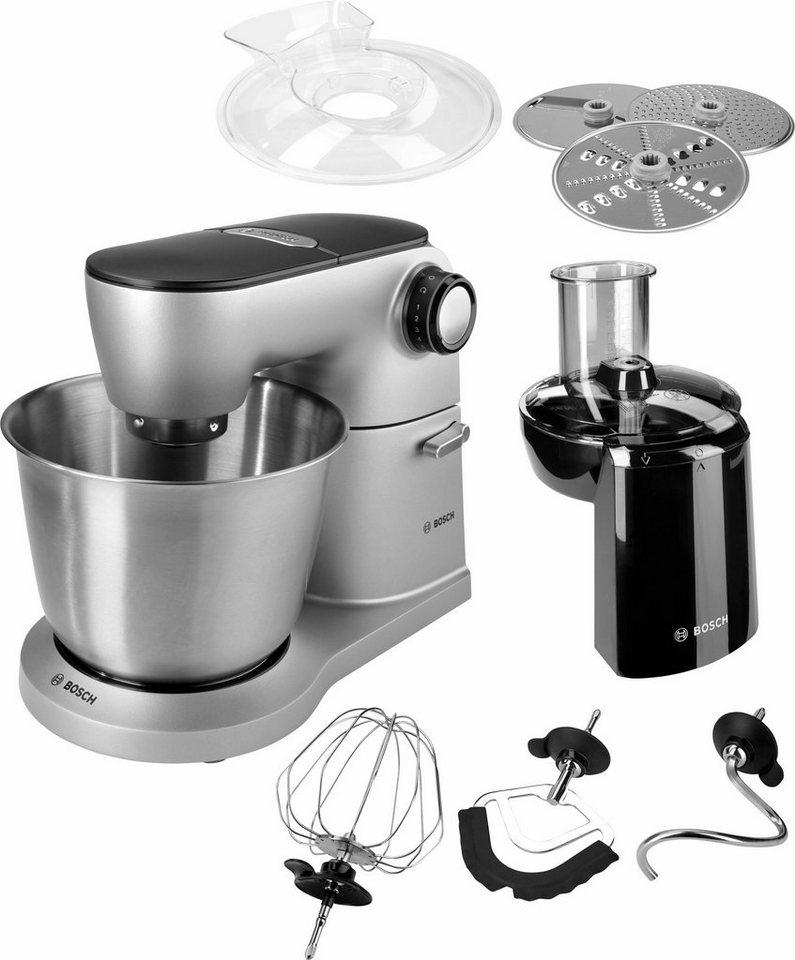 Bosch Küchenmaschine OptiMUM MUM9D33S11, 5,5Liter, 1300 Watt, Vollmetall-Gehäuse in platinum silver/schwarz