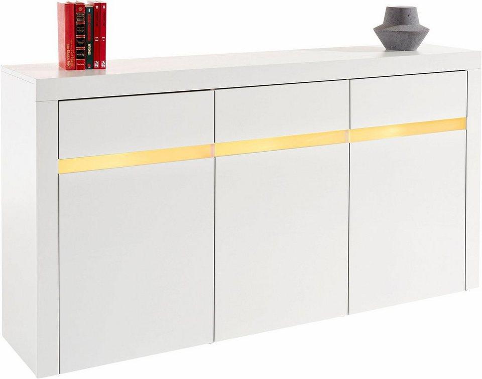 Sideboard, Breite 154 cm in weiß matt