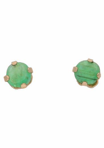 Firetti Paar Ohrstecker  mit Smaragd