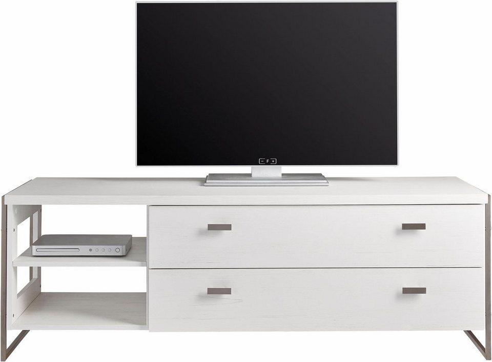 Lowboard, Breite 148 cm in Piniefarben Weiß