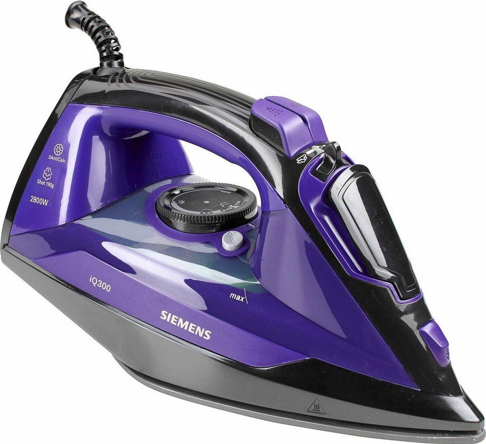 Siemens Bügeleisen iQ300 TB402820, titaniumGlissée360° Sohle, 2800 Watt in violett/schwarz
