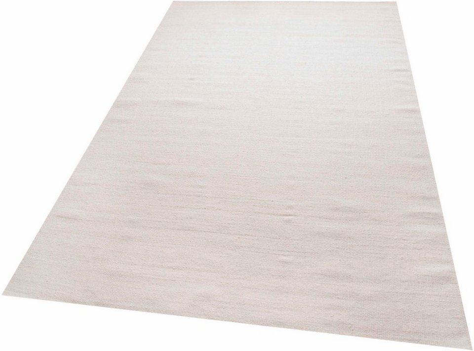 Baumwollteppich weiß  Teppich, Parwis, »Kelim uni«, handgewebt kaufen | OTTO