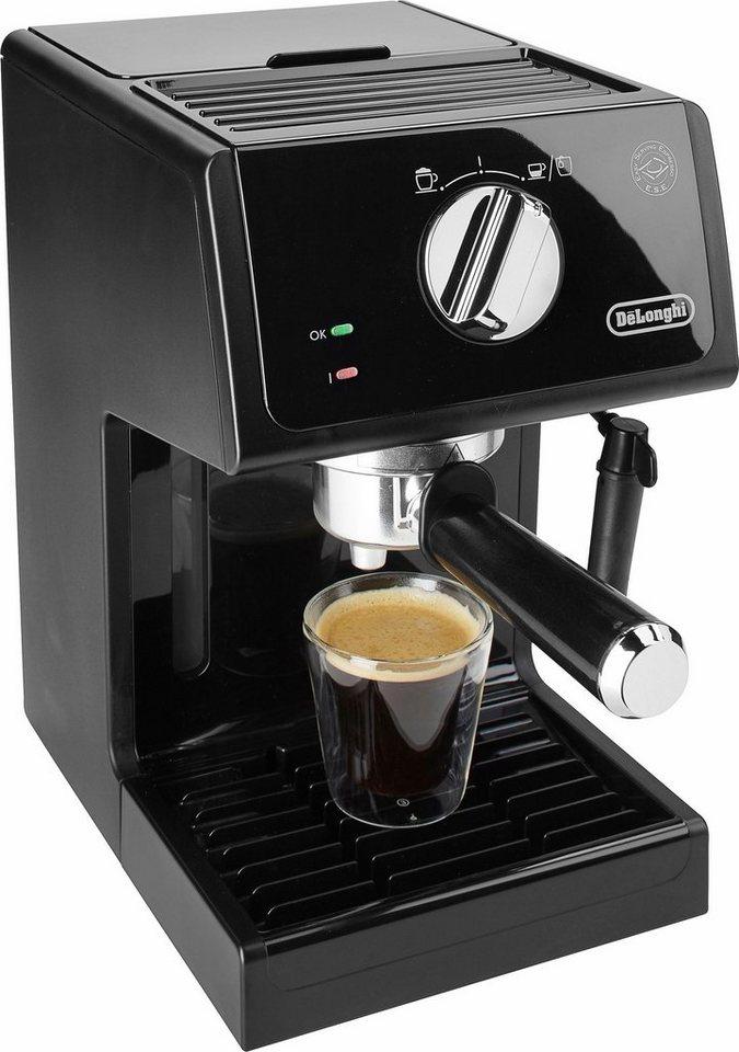 De'Longhi Traditionelle Espresso-/ Siebträgermaschine ECP 31.21, 15 Bar, schwarz in schwarz
