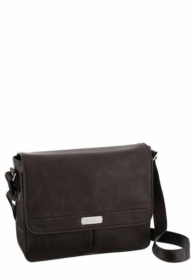 Guess Messenger Bag mit Tabletfach in dunkelgrau
