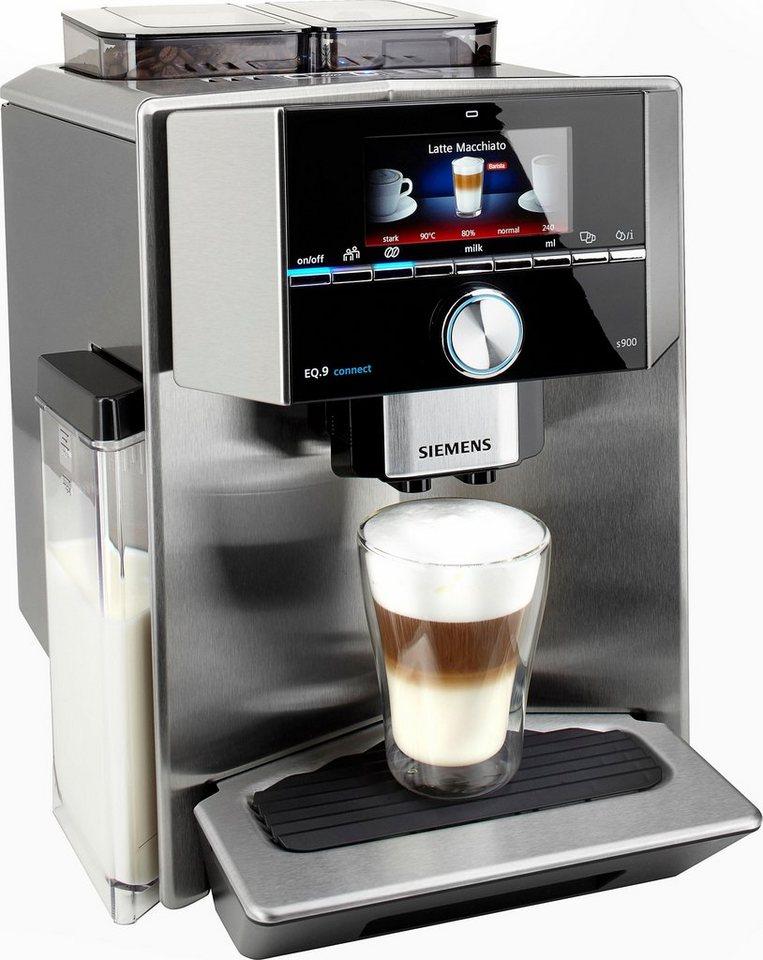 Siemens Kaffeevollautomat EQ.9 connect s900 TI909701HC, integrierter Milchtank in edelstahl