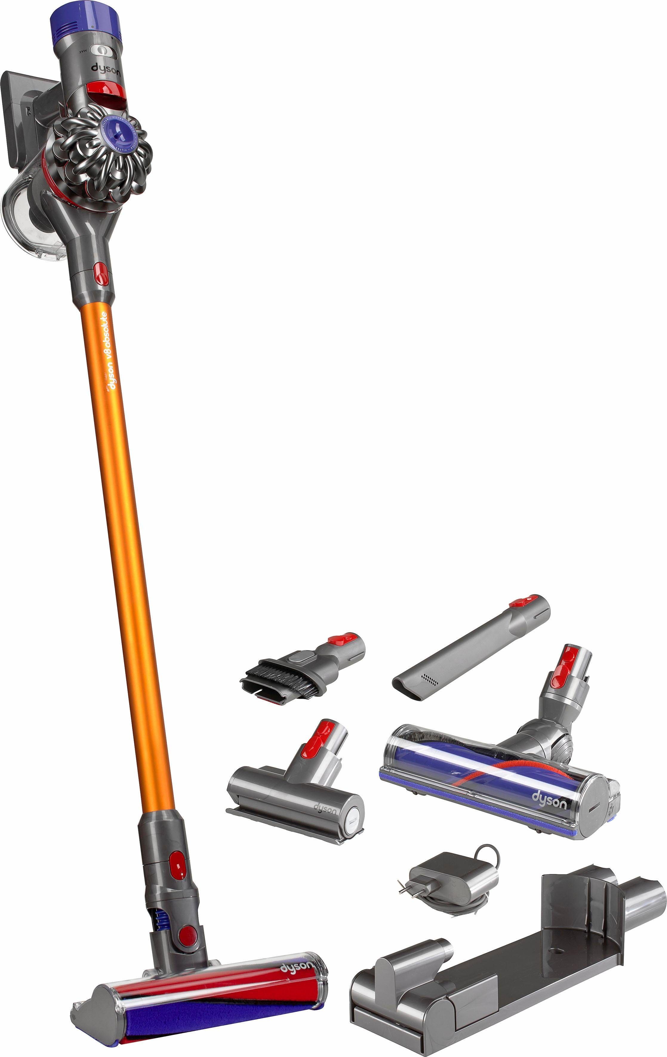 Dyson Akkusauger V8 Absolute, beutellos, gelb-nickel
