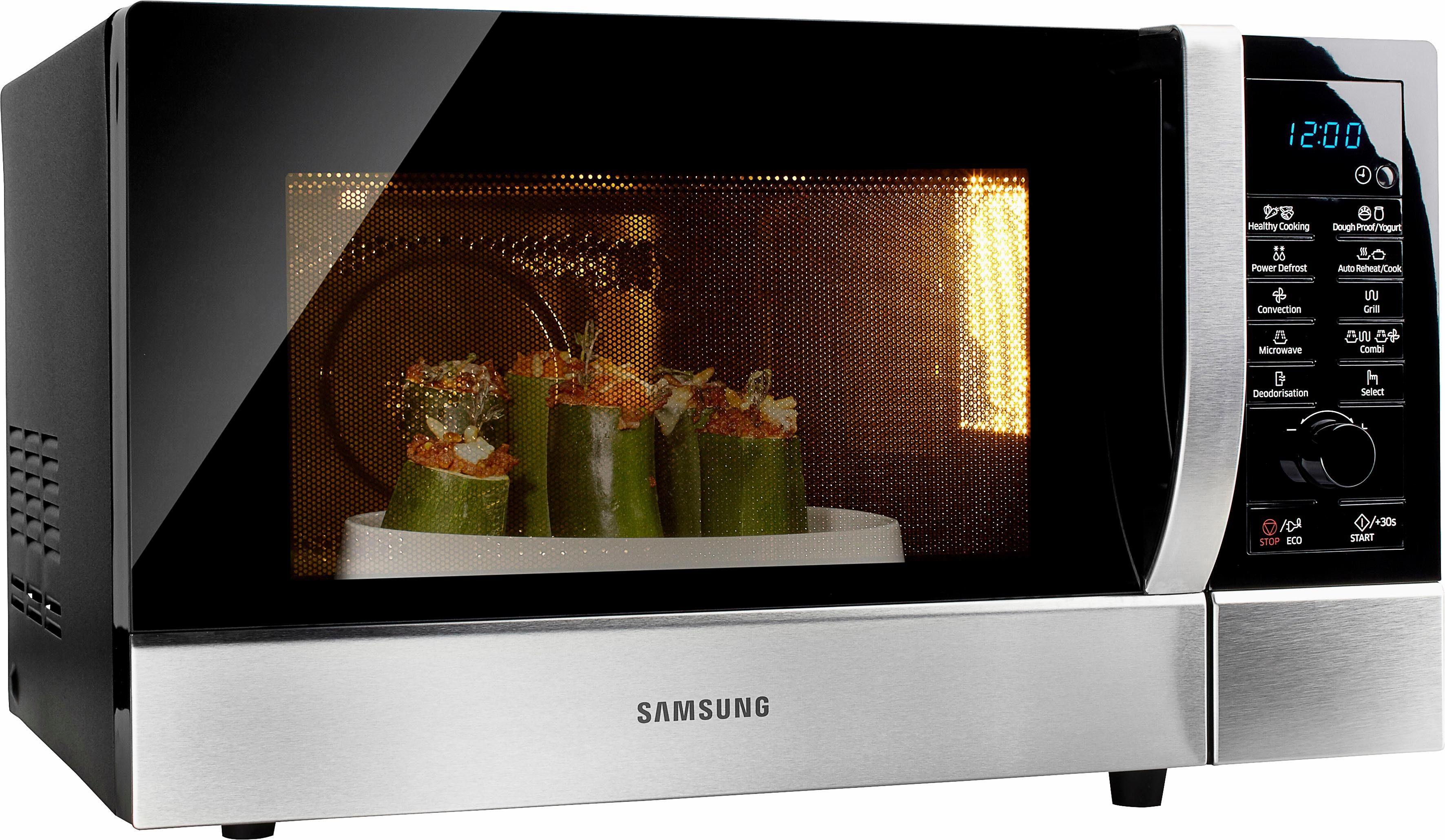 Samsung Mikrowelle CE109MTST1, mit Grill und Heißluft, 28 Liter Garraum, 900 Watt