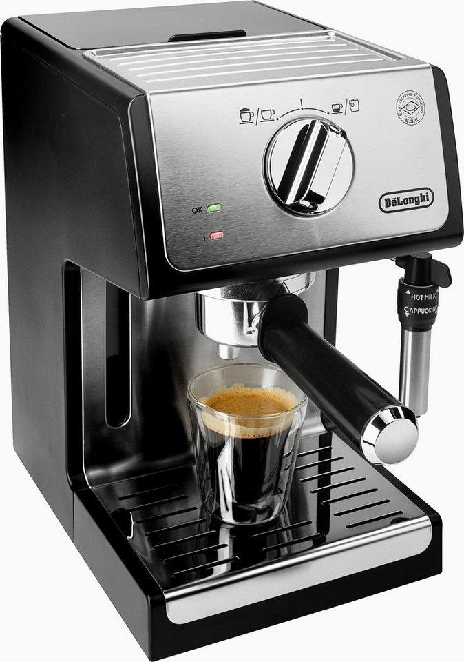 De'Longhi Traditionelle Espresso-/ Siebträgermaschine ECP 35.31, 15 Bar, silber-schwarz in silber-schwarz
