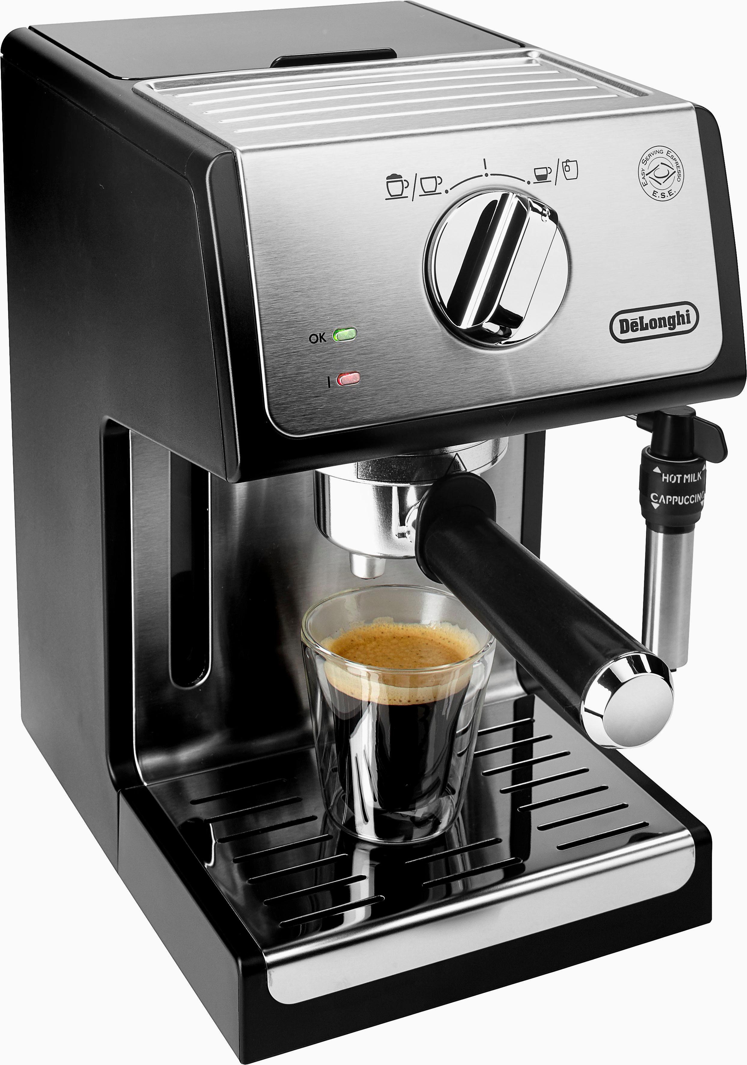 De'Longhi Traditionelle Espresso-/ Siebträgermaschine ECP 35.31, 15 Bar, silber-schwarz